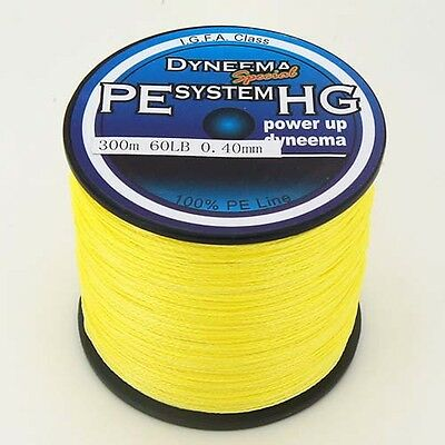 300M 500M 1000M Yellow 100% PE Top Quality Dyneema Spectra Braid Fishing Line #