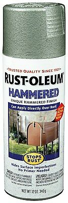 New Rust-Oleum 7213830 Hammered Metal Finish Spray, Silver, 12-Ounce