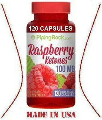 RASPBERRY KETONES - 100 mg - 120 Capsules - WEIGHT LOSS & FAT BURNER Made in USA