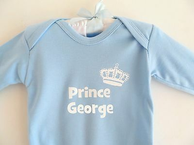 Funky PERSONALISED baby boy Royal PRINCE Romper babygrow sleepsuit ANY NAME