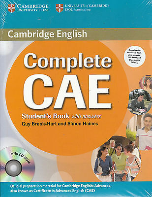 Cambridge COMPLETE CAE Student's Book w Answers & CD-ROM + Class Audio CD's @NEW