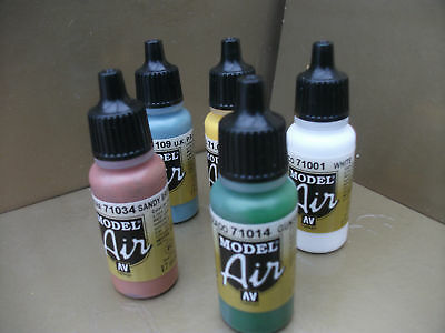 Vallejo Model Air Acrylic Airbrush Paints Choose Any 5