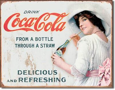 Nostalgic Coca Cola Collectable Tin Metal Signs Combined Postage For 2+