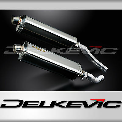 "Tri-Oval 17"" Stainless Muffler Silencer Exhaust Slip-on Set Honda ST1300 2003-15"