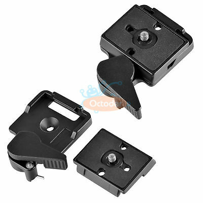 SLR DSLR Camera Lens Tripod Quick Release Clamp Plate Mount Screw Adapter Set