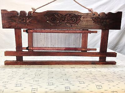 IA 101 Indonesian Balinese Flower Wood Carving Hanging
