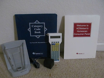Homescan Ac Nielsen Barcode Scanner Reader Home Scan In Euc With Manuals