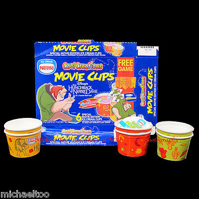 DISNEY HUNCHBACK OF NOTRE DAME NESTLé COOL CREATIONS MOVIE ICE CREAM CUPS