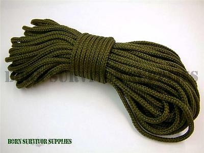 BCB 50ft Military PARACORD 550 Bushcraft Para Cord Army Olive Green Camping 4mm