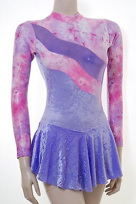 Skating Dress RIPPLE DESIGN LILAC CRUSH VELVET + METALIC- ALL SIZES AVAILABLE