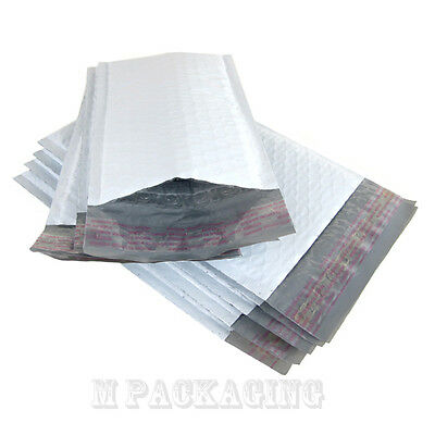 "New 100 #000 4""x8"" poly Bubble Mailers Padded Envelopes"