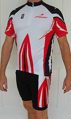 Mens Jaggad Cycling Bike short Sleeve Jersey Knick pants kit Red S M L XL XXL