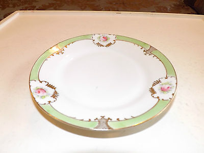 Vintage Nippon Hand Painted Bread and Butter Plate 6 1/2""