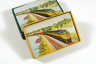 """C&nw Rr Full Deck Playing Cards W/scenic Front, Early """"f"""" Units"""