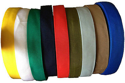 Polypropylene Webbing Strapping Bags Weave Lead Tape 20Mm - 50Mm Various Colours