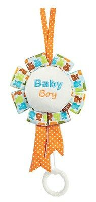 Baby Fehn Happieness Mini Spieluhr Medaille orange (Schlaf Kindchen Schlaf)