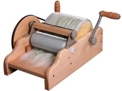 "DRUM CARDER 8"" ASHFORD NZ SUPERFINE for spinning felting carding blending fibres"