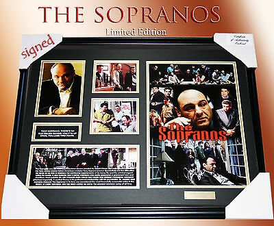 "NEW! ""THE SOPRANOS"" Movie MEMORABILIA SIGNED FRAMED LIMITED EDITION 499 w/ C.O.A"