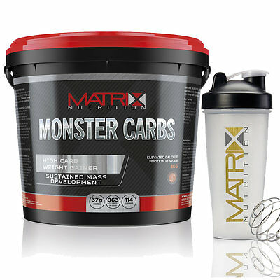 8Kg Matrix Monster Carbs - Weight Gainer Anabolic Whey Lean Gain - All Flavours