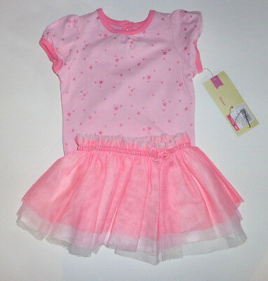 Cherokee Infant Girls 2 Piece Outfit Tutu Stars Size- 6 Months  NWT