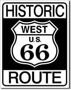 Historic Route 66  Collectable Tin Metal Signs Combined Postage For 2+