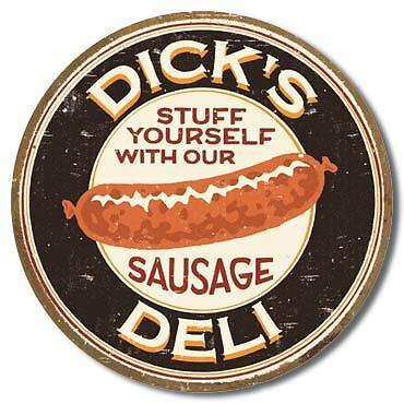 Dick's Deli Collectable Tin Metal Signs Combined Postage For 2+