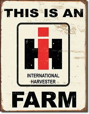 This Is An International Harvester Farm  Tin Metal Signs Combined Postage For 2+