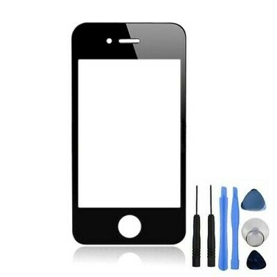 New Front Screen Lens Glass For iPhone 4 4G Replacement Part Black