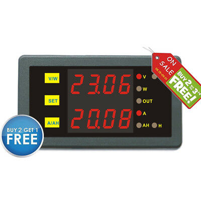 Programmable Over Voltage Protection DC 200V 300A Combo Meter Volt Amp Power Ah