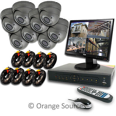 8CH 8 CHANNELS Security System 8 Outdoor Camera Home Video Surveillance CCTV DVR