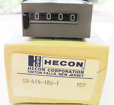 Danaher Hecon G0 414 186-1, 4 Digit, Pushbutton Reset, 24VDC, Totalizing Counter