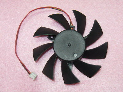 75mm GIGABYTE GT240 GTS450 Radeon 5770 Fan Replacement 40mm 2Pin T128015SH 0.32A