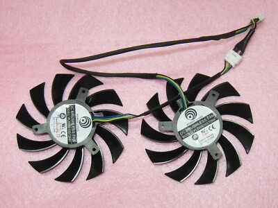 75mm MSI GTX 560 570 R6950 Twin Frozr II Video Card Dual Fan PLD08010S12HH R83a