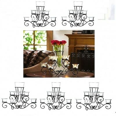 6 Large Black Candelabra Candle Holder Table Decor Wedding Centerpieces