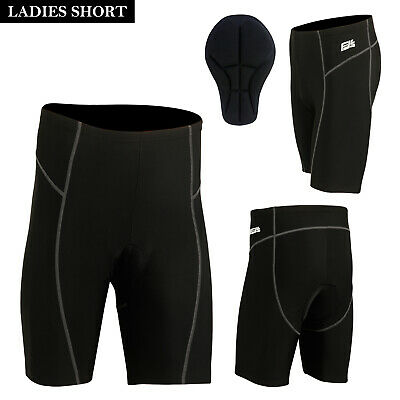 Ladies  Womens Quality Gel Padded Cycle Cycling Shorts Anti-Bac Padding Gel Pad