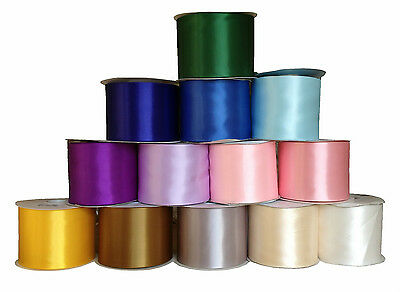 "Satin Sash Ribbon 4"" 4 Inch 100Mm Wide Weddings Parties Decorations Many Colours"