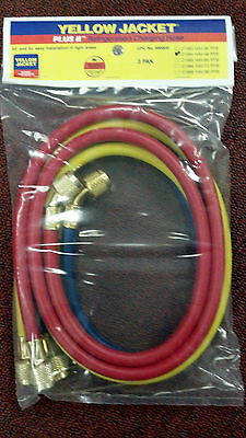 """YELLOW JACKET Charging Hose Set  48"""" Yellow, Blue & Red, part# 21984"""