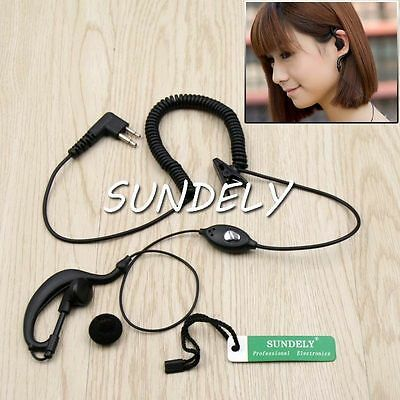 High Quality Clip Ear Earpiece Headset Mic for Motorola Radio Walkie Talkie 2pin