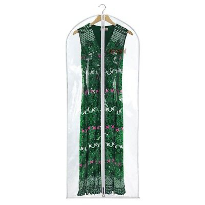"Hangerworld Clear 60"" Garment Clothes Cover Dress Gown Suit Protector Bag"