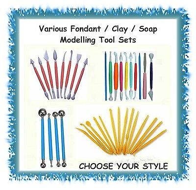 Various Sets of Fondant Clay Soap Modelling Tools - YOU CHOOSE - cake polymer