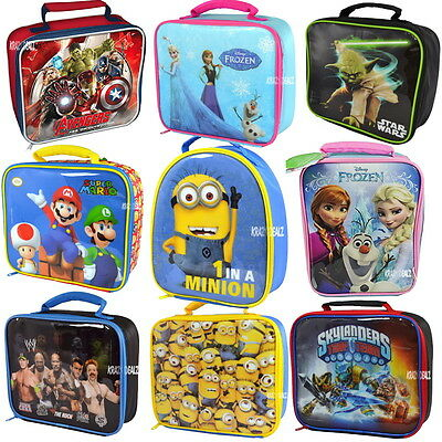Official Licensed Character Insulated Lunch Bag School Disney Marvel