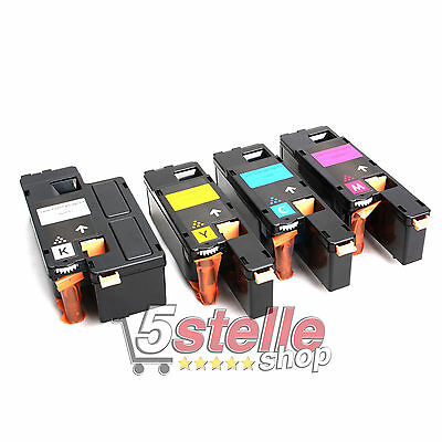Multipack 4 Toner Per Xerox Phaser 6000 6010 Cartucce Reman