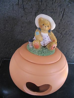 Cherished Teddies LEAH TEA LIGHT Bear  2003 Symbol of Membearship  New