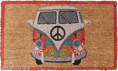 NEW Large Natural Coconut VW Camper Van Front Door Mat W75 x D45cm Coir Doormat