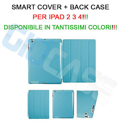 Custodia Smart Cover + Back Case Per iPad 4 3 2 SLIM pieghevole Magnetica STAND