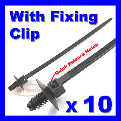 Cable Ties Kit Car Boat Trailer Tie Wrap Fixing Clip Wiring Loom Easy Release