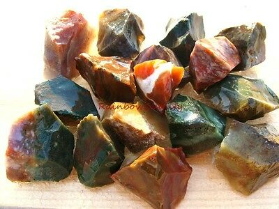 Natural FANCY JASPER Rough Rocks - 1 LB - Great Color - Perfect Size 4 Tumbling