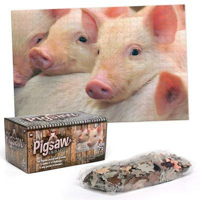 PIGSAW 500 + Piece Pig Jigsaw Puzzles Game Fun Impossible Crazy Puzzle Piggy Toy