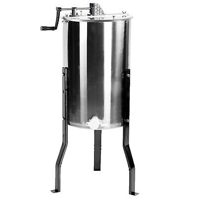 New Large Two 2 Frame Stainless Steel Honey Extractor SS VIVO Model BEE-V002