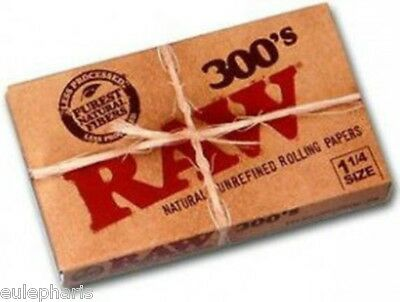 PAPEL DE FUMAR RAW 300´s NATURAL,Classic 1 1/4, Librillo librito caja, GROW